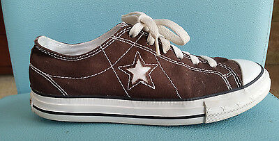 Converse One Star Women's Low Top Canvas Athletic Shoes Brown White Size 8