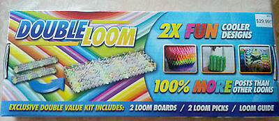 Double Loom 2X Fun 2 Loom Boards, 2 loom Picks and guide, new
