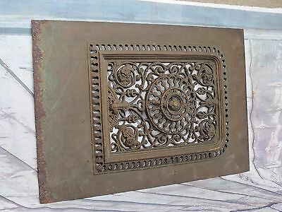 Large Victorian Cast Iron Fireplace Cover Beautiful Architectural Salvage Piece