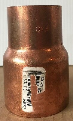 NIBCO 2 inch x 1 1/2 inch Copper Reducer Fitting - NEW -  Plumbing Fitting