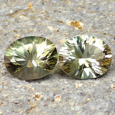 PASTEL GOLD-GREEN DICHROIC OREGON SUNSTONE 4.87Ct FLAWLESS-FOR HIGH-END JEWELRY!