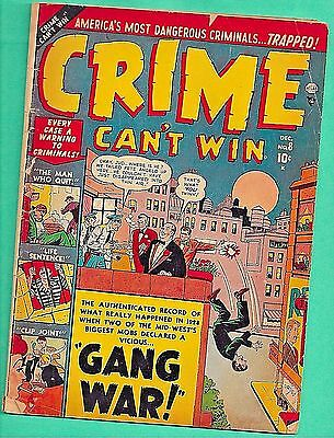 Crime Can't Win #8 Atlas 5.5 Gang War 1951 Chicago Mob Clip Joint Gun Police