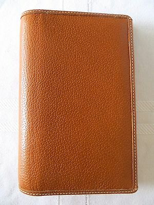 COACH  Brown Cognac Leather Sketch Pad, Address Book and Pen Complete