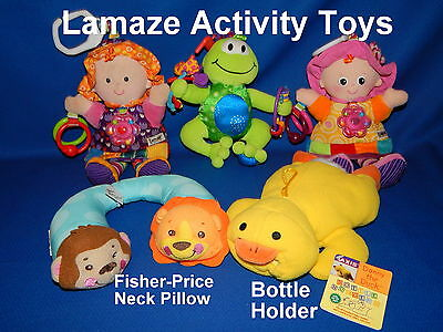 Lot Of 5 LAMAZE & FISHER-PRICE Infant Developmental Activity Baby Toys