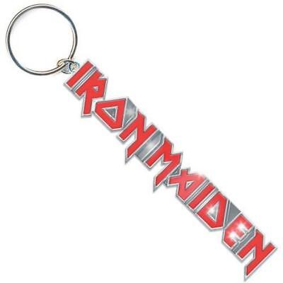 Official Licensed - Iron Maiden - Logo With Tails Keychain Keyring Metal Eddie