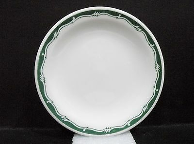 "Bristile small Side Plate - light green zigzag band pattern vgc (5"")"