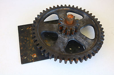 Metal art decor Very Large GEAR SET Heavy STEAM PUNK Industrial Parts OLD Real