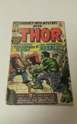Journey into Mystery #112 (Jan 1965, Marvel), FR/G, Low Grade, Thor/Hulk Fight