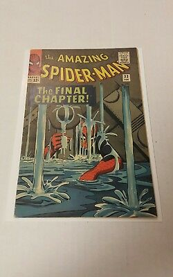 The Amazing Spider-Man #33 (Feb 1966, Marvel), FN+, 1st Print, Classic Cover