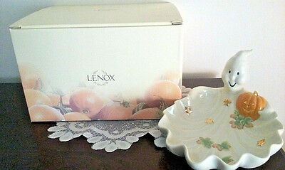 Lenox China HALLOWEEN GHOST CANDY DISH ~ New In Box