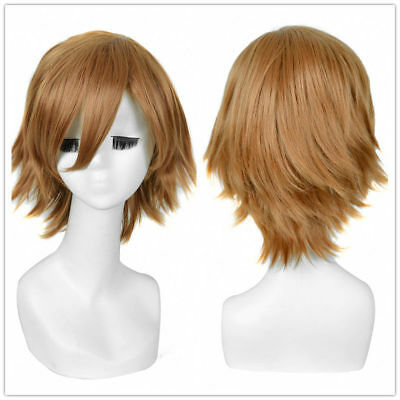 Fluffy Loose shaggy Edge Short brown Hair PARTY Rapunzel Wigs Wig