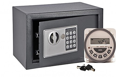 Hand Assembled Electronic Time Lock Safe With Weekly Programmable Timer Inside