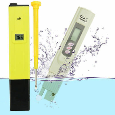 Digital LCD PH Meter TDS EC Water Purity PPM Filter Hydroponic Pool Tester JRLI