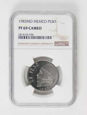 1983Mo Mexico Peso Ngc Pf69 Cameo Proof Set Coin Only 998 Minted!!!