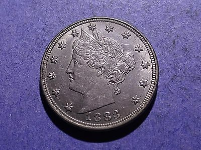 1883 w/out cents Liberty V Nickel AU