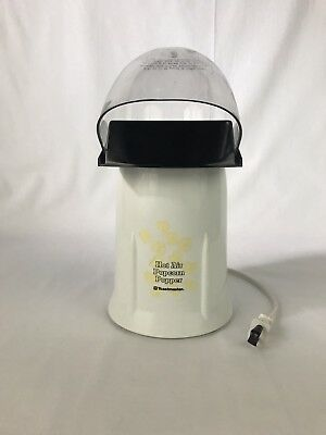 Toastmaster Hot Air Popcorn Popper Electric Machine Model 6201 White Black