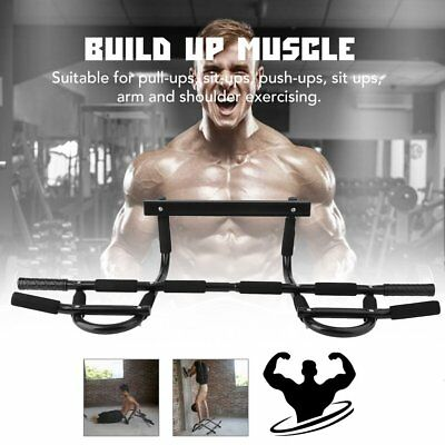 Chin Up Workout Bar Door Pull Up Body Muscle Exercise Bodybuild Equipment UU