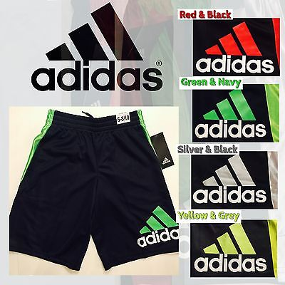 ADIDAS Boys Athletic Shorts with Pockets - S - M - L - XL - NEW WITH TAGS