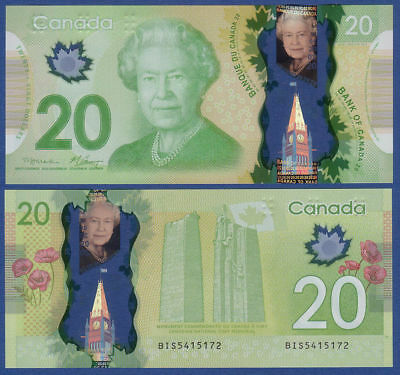 CANADA $20 Dollars Banknote World Money GEM UNC P108a Polymer Note Bill