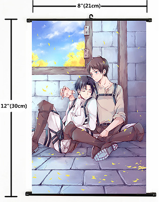 Anime Attack on Titan Yaoi Levi Eren Wall Poster Scroll Home Decor Cosplay s2177