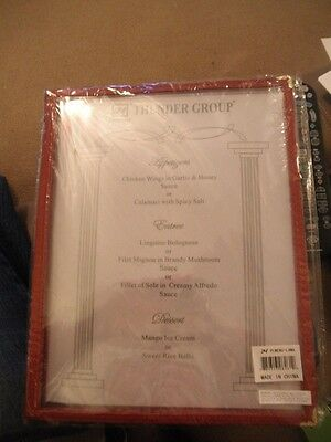 12 Restaurant Menu Cover Foldable 8.5X11 Burgundy, 4 Page 8 View, PLMENU-L4MA