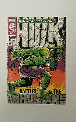 The Incredible Hulk Special #1 (1968, Marvel), FN-- (5.25), Inhumans, Classic