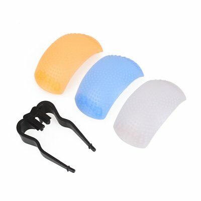 3 Color Puffer Pop-Up Flash Soft Diffuser Dome For Canon Camera Universal