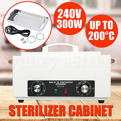 Portable Dry Heat UV Sterilizer Cabinet Autoclave Dental Beauty Instruments 300W