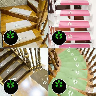 55x22cm Non-slip Stair Mats Carpet Treads Mat Rugs Home Hotel Luminous Pad Funny