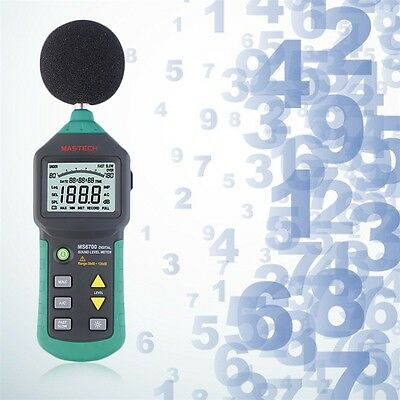Mastech MS6700 Digital Sound Level Meter Test Measure Decibels 30-130dB U8