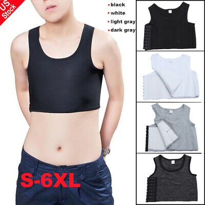 Men Lady  Buckle Short Chest Breast Binder Trans Lesbian Tomboy Cosplay Shaper
