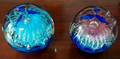 Two Vintage Murano Glass Fish Bowls