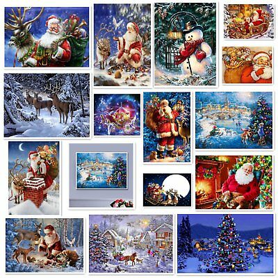 Christmas DIY 5D Diamond Painting Winter Embroidery Cross Stitch Home Decor Kit