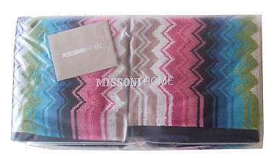 MISSONI HOME BRAND PACK RALPH 100 TWO HAND TOWELS 40x70cm DUE ASCIUGAMANI OSPIT