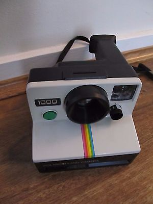 Vintage 1977 Instant film Polaroid, 1000 Land Rainbow Stripe camera & box