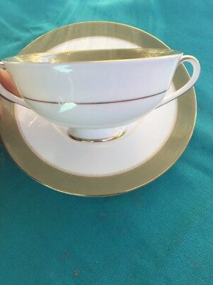 Royal Doulton Belvedere H5001 / Soup Bowl And Plate Set