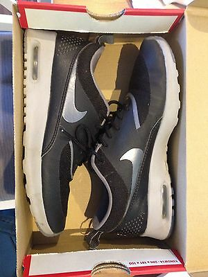 Women's Nike Air Max Thea Shoes Sneakers Black Grey Genuine US 7