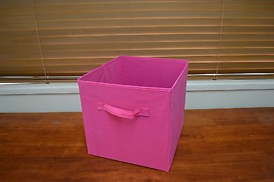Set of 4 33cm PINK Fabric Storage Cube boxes / organizers / baskets / Container