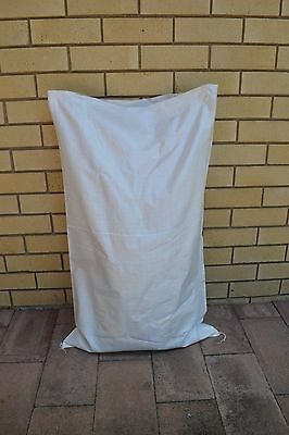 50 Large Poly Woven White Bags 100cm * 60cm For Garden, Postage, Storage Use