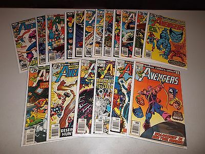Avengers #172-189 (Complete Bronze Age run of 18) VG FN 173 174 175 176 177 181