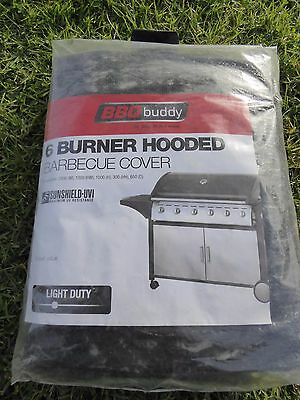 BBQ Buddy 6 Burner Light Duty Hooded Barbeque Cover