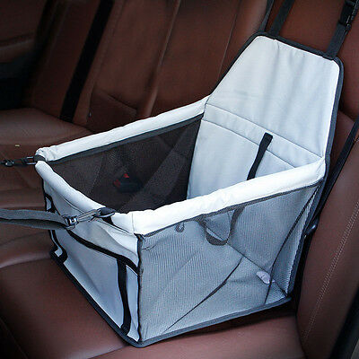 Folding Dog Cat Car Seat Pet Carrier Booster Bag Puppy Safety Belt Easy Storage