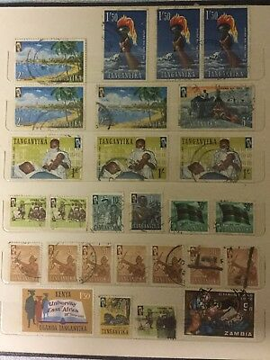 OLD INTERNATIONAL WORLD STAMP LOT 2. AFRICA KENYA UGANDA  x44 STAMPS