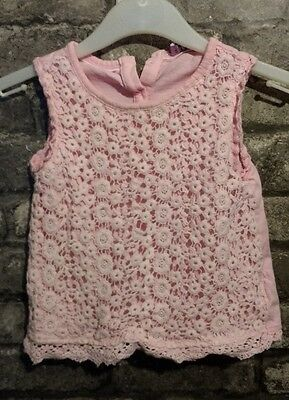 girls pink sleeveless top ages 18-24 months
