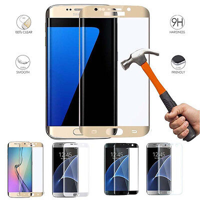 Full Coverage Tempered Glass Screen Protector Film For Samsung GALAXY S7 Edge S8