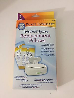 New In Box Prince Lionheart Replacement Pillows 2Pack Wipe Warmer