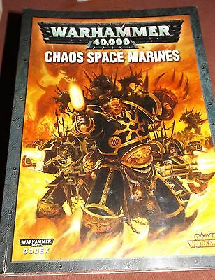Warhammer 40K - Chaos Space Marine Codex Book c2007