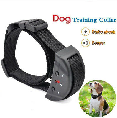 Auto Electric Anti Bark No Barking Tone Shock Training Collar for Small Pet Dogs