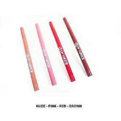 W7 Lip Twister Lip Liner Pencil Retractable Twist up Pink Nude Brown Red.