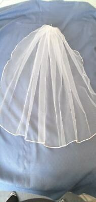Fingertip Single Tier Bridal Veil,  wide selection of colours. Handmade